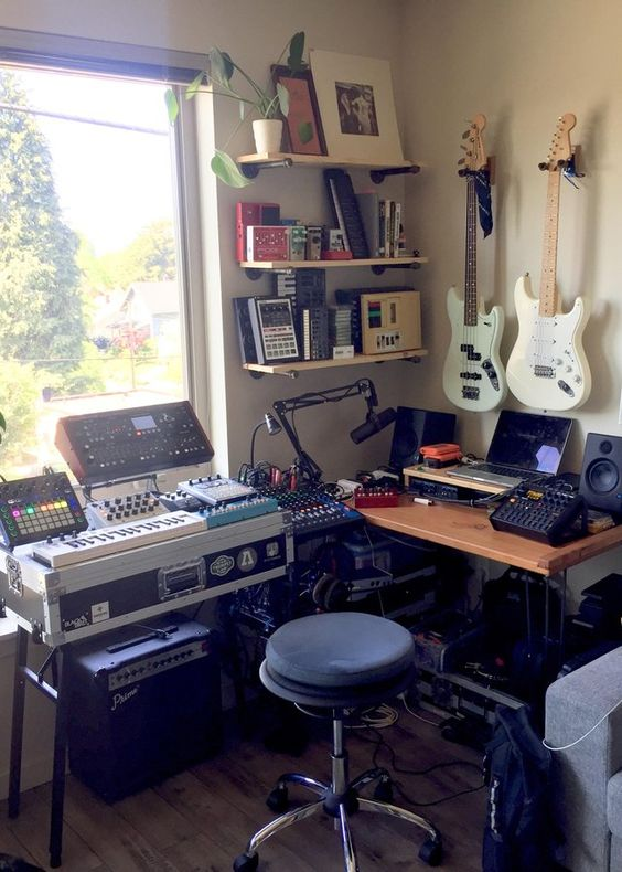 awe-inspiring apartment music studios