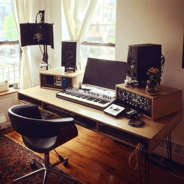 Small Apartment Music Studio